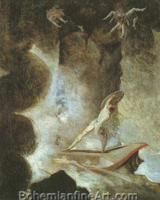 Henry Fuseli, Odysseus between Scylla and Charybdis Fine Art Reproduction Oil Painting