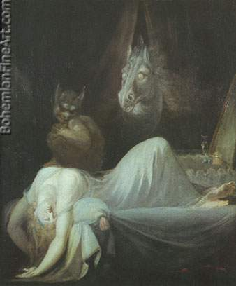 Henry Fuseli, The Nightmare Fine Art Reproduction Oil Painting
