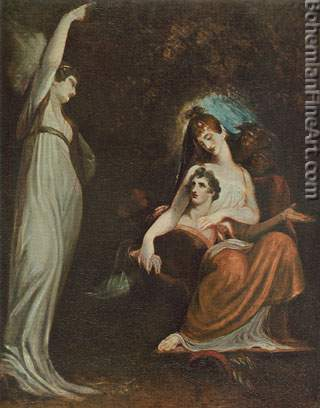 Henry Fuseli, Virtue Calling Youth Fine Art Reproduction Oil Painting