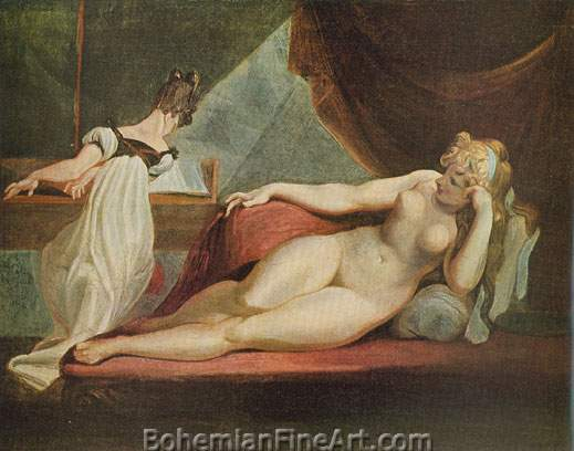 Henry Fuseli, A Nude Reclining Fine Art Reproduction Oil Painting