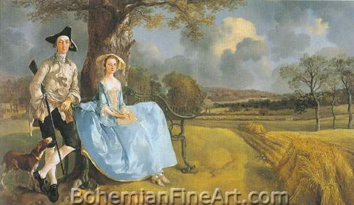 Thomas Gainsborough, Mr and Mrs Andrews Fine Art Reproduction Oil Painting