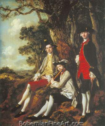 Thomas Gainsborough, Peter Darnell Muilman+ Charles Crockett Fine Art Reproduction Oil Painting