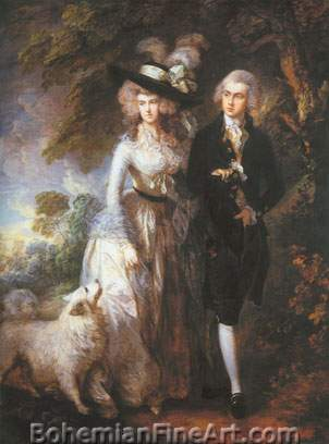 Thomas Gainsborough, Mr and Mrs William Hallet Fine Art Reproduction Oil Painting
