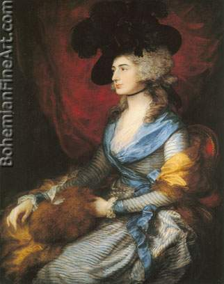 Thomas Gainsborough, Mrs Siddons Fine Art Reproduction Oil Painting