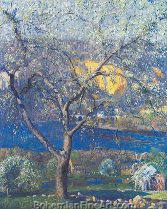 Daniel Garber, Buds and Blossoms Fine Art Reproduction Oil Painting