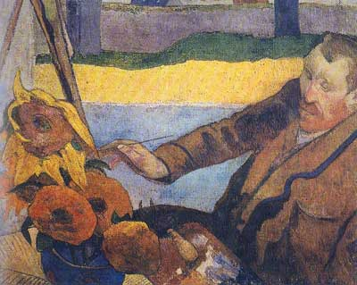 Paul Gauguin, Van Gogh Painting Sunflowers Fine Art Reproduction Oil Painting