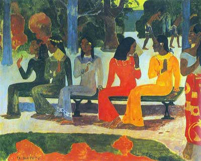 Paul Gauguin, We Shall Not Go to the Market Today (Ta Matete) Fine Art Reproduction Oil Painting