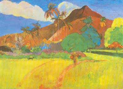 Paul Gauguin, Tahitian Landscape Fine Art Reproduction Oil Painting