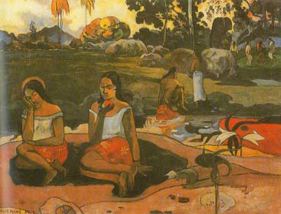Paul Gauguin, Delicious Water (Nave Nave Moe) Fine Art Reproduction Oil Painting