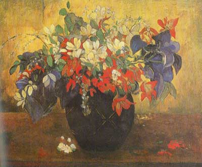 Paul Gauguin, Bouquet of Flowers Fine Art Reproduction Oil Painting