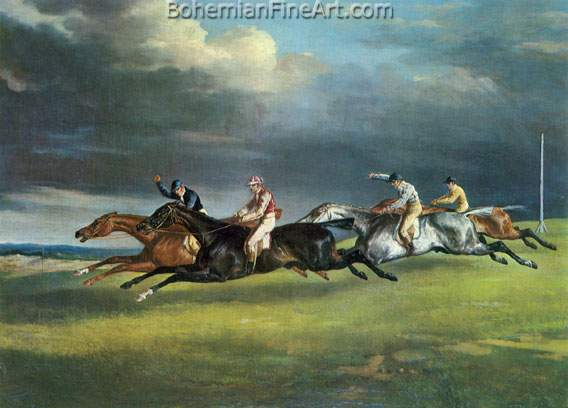 Theodore Gericault, The Derby at Epsom Fine Art Reproduction Oil Painting