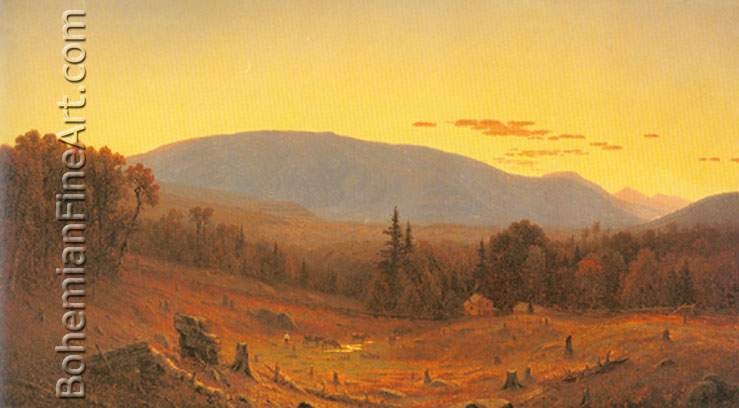 Sanford Robinson Gifford, Hunter Mountain+ Twilight Fine Art Reproduction Oil Painting