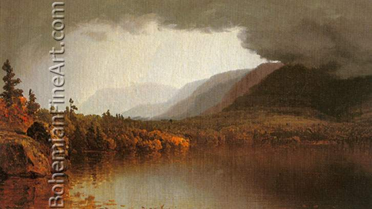 Sanford Robinson Gifford, A Coming Storm on Lake George Fine Art Reproduction Oil Painting