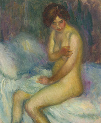 William J. Glackens, Nude on a Bed Fine Art Reproduction Oil Painting