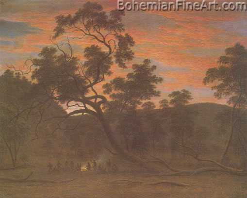 John Glover, A Corroboree of Natives in Mills Plains Fine Art Reproduction Oil Painting