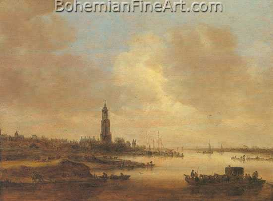 Jan Van Goyen, Rhine Riverscape Fine Art Reproduction Oil Painting