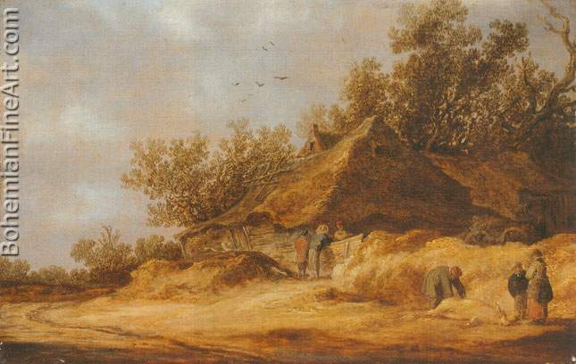 Jan Van Goyen, A Dune Landscape Fine Art Reproduction Oil Painting