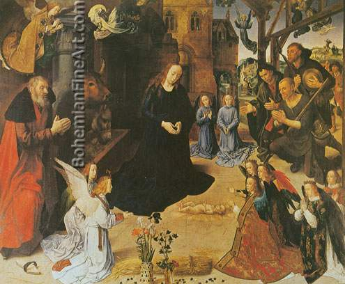 Hugo van der Goes, The Adoration of the Shepherds Fine Art Reproduction Oil Painting