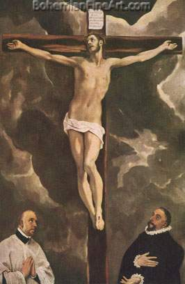 Domenico El Greco, Christ on the Cross Fine Art Reproduction Oil Painting