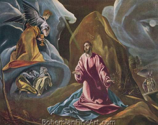 Domenico El Greco, Christ on the Mount of Olives Fine Art Reproduction Oil Painting