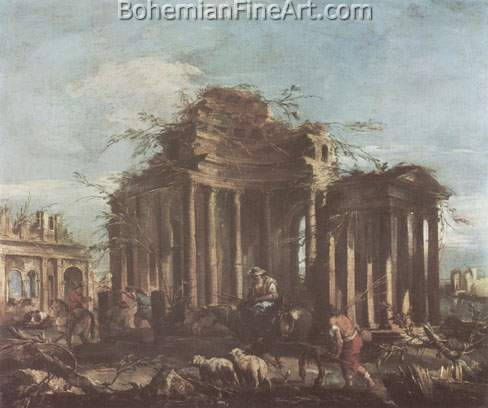 Francesco Guardi, Caprice Fine Art Reproduction Oil Painting