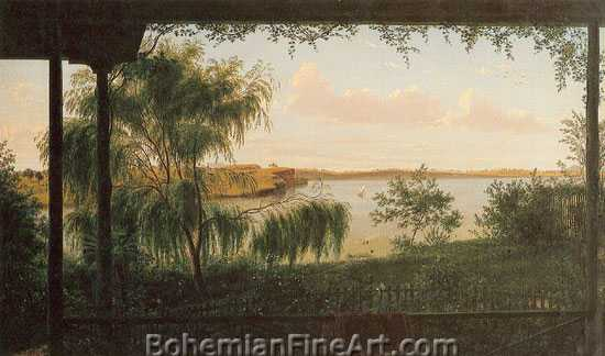 Eugene von Guerard, From the Verandah of Purrumbete Fine Art Reproduction Oil Painting