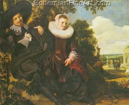 Frans Hals, A Couple in a Garden Fine Art Reproduction Oil Painting
