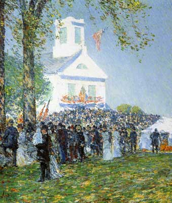 Childe Hassam, Country Fair, New England Fine Art Reproduction Oil Painting