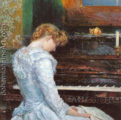 Childe Hassam, Sonata Fine Art Reproduction Oil Painting