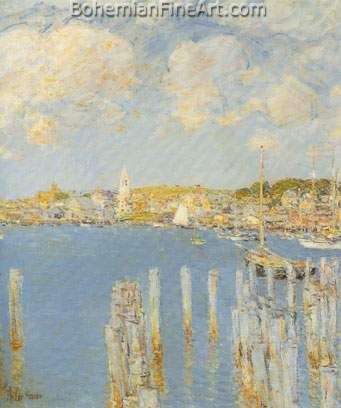 Childe Hassam, Gloucester Inner Harbour Fine Art Reproduction Oil Painting