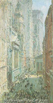 Childe Hassam, Lower Manhattan Fine Art Reproduction Oil Painting