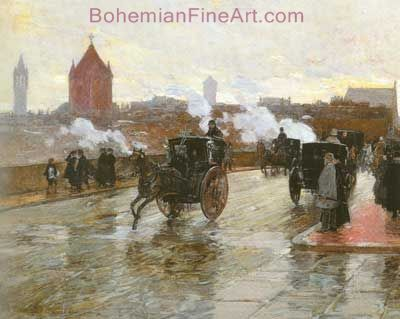 Childe Hassam, Clearing Sunset Fine Art Reproduction Oil Painting