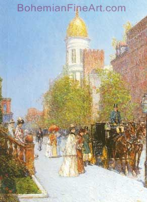 Childe Hassam, A Spring Morning Fine Art Reproduction Oil Painting