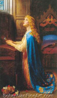 Arthur Hughes, Forget Me Not Fine Art Reproduction Oil Painting
