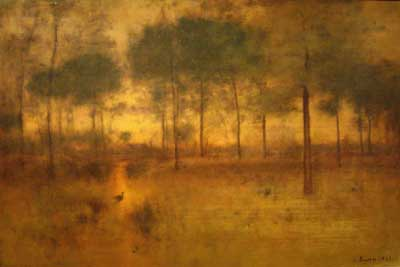 George Innes, The Home of the Heron Fine Art Reproduction Oil Painting