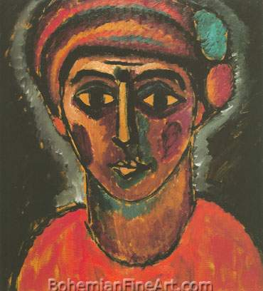 Alexei von Jawlensky, Head of a Young Man Fine Art Reproduction Oil Painting