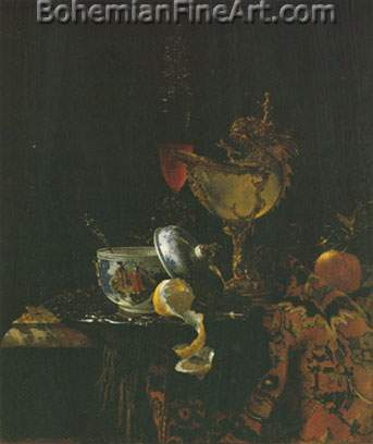 Willem Kalf, Still Life with Nautilus Goblet Fine Art Reproduction Oil Painting