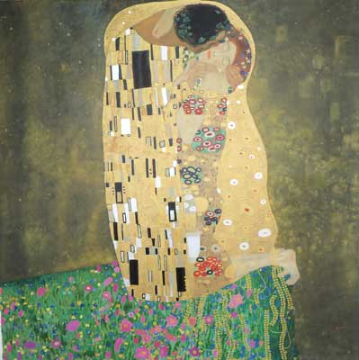 Gustave Klimt, The Kiss Fine Art Reproduction Oil Painting