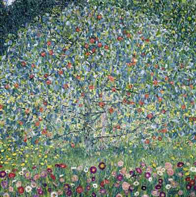 Gustave Klimt, Apple Tree Fine Art Reproduction Oil Painting