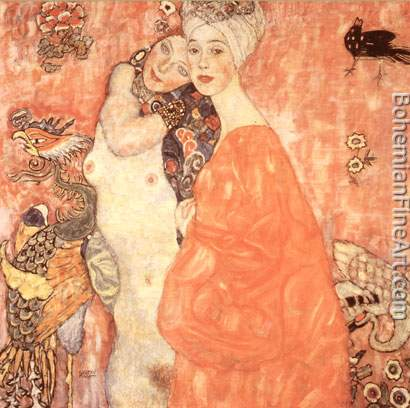 Gustave Klimt, The Girlfriends Fine Art Reproduction Oil Painting