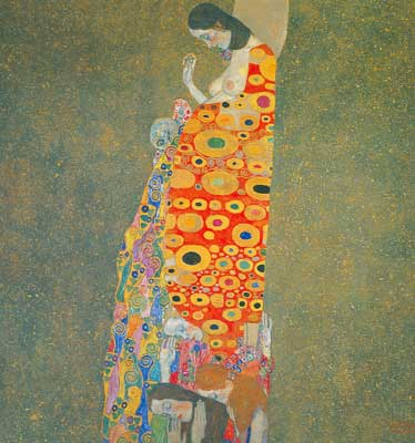 Gustave Klimt, Hope II Fine Art Reproduction Oil Painting