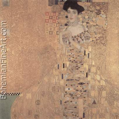 Gustave Klimt, Portrait of Adele Bloch-Bauer Fine Art Reproduction Oil Painting