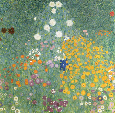 Gustave Klimt, Farm Garden Fine Art Reproduction Oil Painting