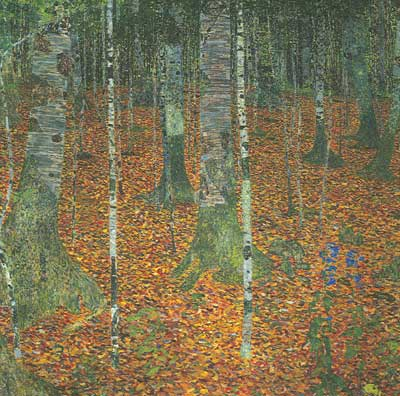 Gustave Klimt, Birch Forest Fine Art Reproduction Oil Painting