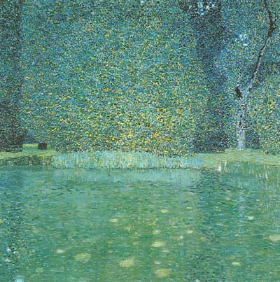 Gustave Klimt, Pond at Schloss Kammer on the Attersee Fine Art Reproduction Oil Painting