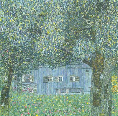 Gustave Klimt, Farmhouse in Upper Austria Fine Art Reproduction Oil Painting