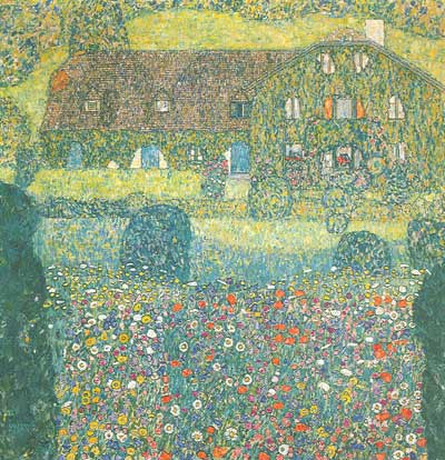Gustave Klimt, Villa on the Attersee Fine Art Reproduction Oil Painting