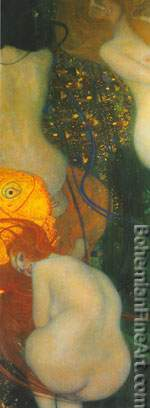 Gustave Klimt, Goldfish Fine Art Reproduction Oil Painting