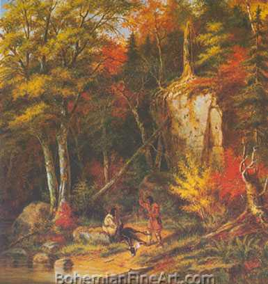 Cornelius Krieghoff, Hunting Scene on the St Maurice Fine Art Reproduction Oil Painting