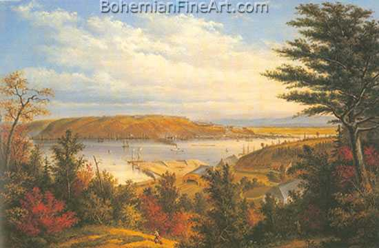 Cornelius Krieghoff, View of Quebec Fine Art Reproduction Oil Painting